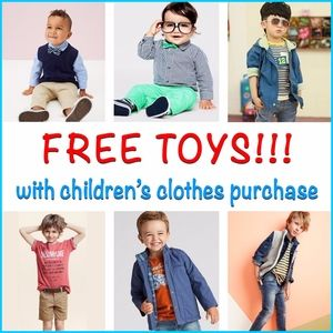 Other - 🧸FREE TOYS WITH CHILDREN CLOTHES PURCHASE!🚙🚘